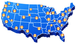 United States Regional Directory map